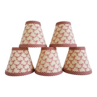 Vintage Chandelier Lamp Shades-Set of 5 For Sale