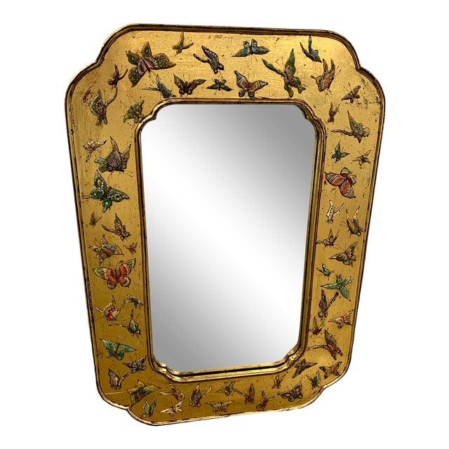 Bohemian Butterfly Wall Mirror For Sale