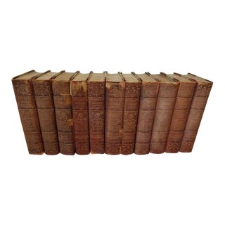 "11 Volume Vintage ""Balzac's Works"" Leather Books For Sale"