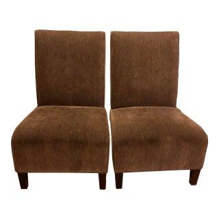 Arhaus Loden Velvet Slipper Chairs- A Pair For Sale