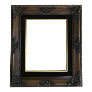Vintage Dark Wooden Baroque Frame