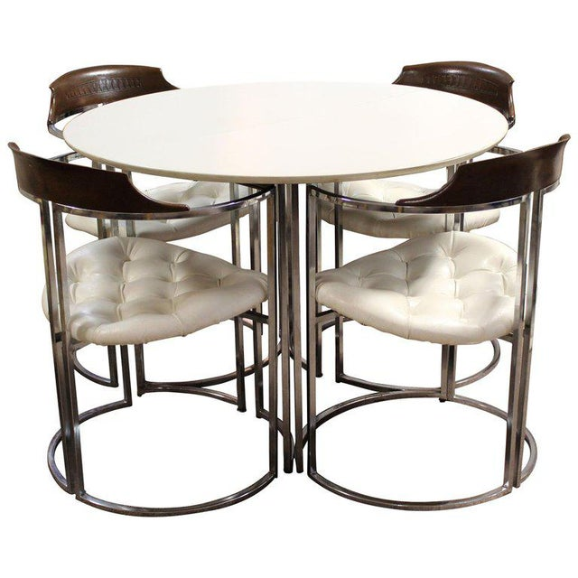 1970s Mid-Century Modern Daystrom Chrome Wood Laminate Dinette Set For Sale - Image 13 of 13