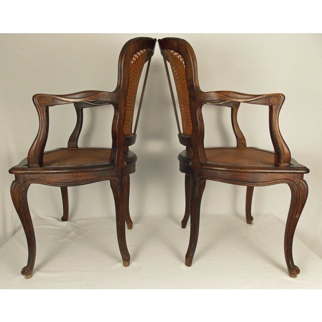 Louis XV Style Caned Chairs - A Pair - Image 6 of 6