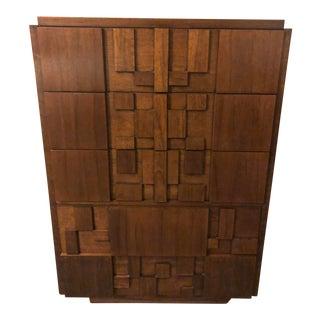 Tallboy 1950s Brutalist Paul Evans for Lane Furniture Mosaic Chest/Dresser