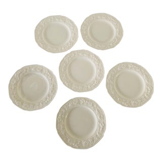 Vintage Crown Ducal Florentine Fruit Design Set of 6 Butter / Dessert Plates For Sale