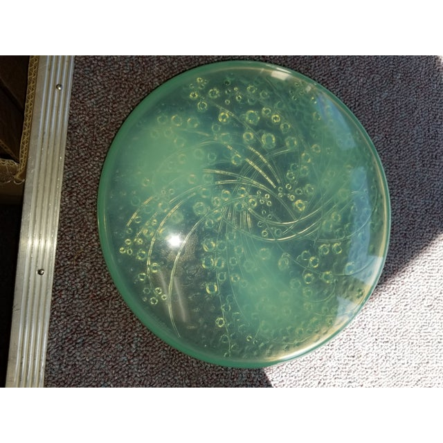 "Vintage original Rene Lalique box lid. Made from celadon circa 1931. ""Le Muguet"". ""Lilies of the Valley"". Made in France...."