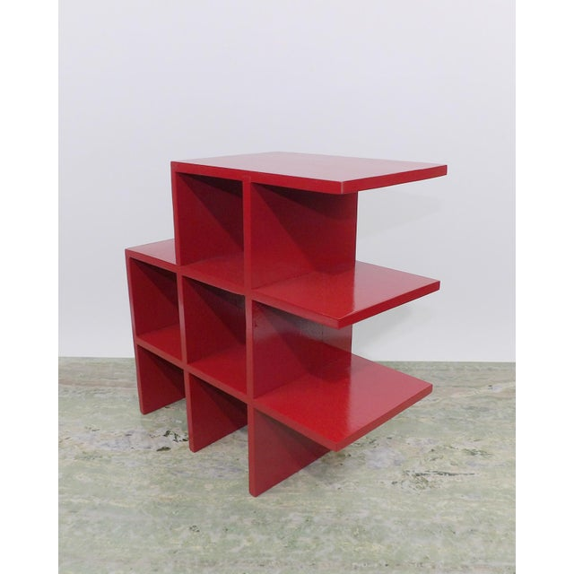 Red Red Wood Tabletop/Hanging Shelf For Sale - Image 8 of 8