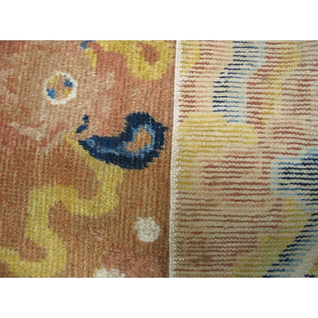 Textile Mid 18th Century Antique Ningxia Pillar Rug For Sale - Image 7 of 9