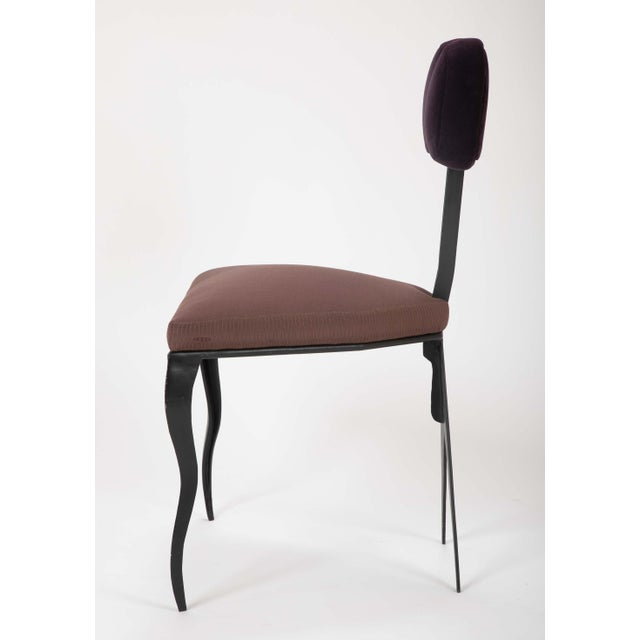 Upholstered Steel Frame Chairs by Joaquin Gasgonia Palencia - Set of 4 For Sale - Image 10 of 13