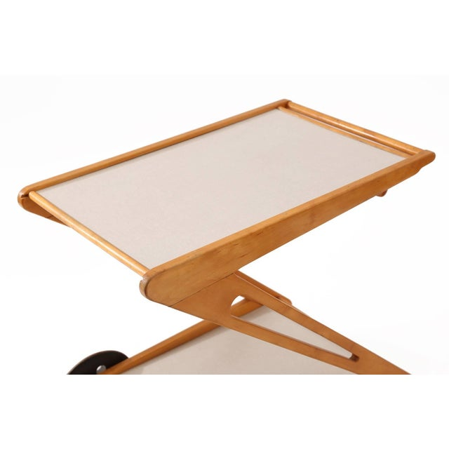 Mid-Century Modern Rare Cees Braakman for Pastoe Bar or Tea Cart For Sale - Image 3 of 8