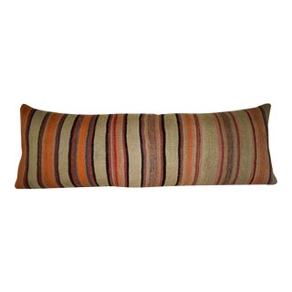 16'' X 45'' Bohemian Bedding Kilim Pillow Cover, Wool Woven Hippie Bed Pillow (40 X 115 Cm) For Sale