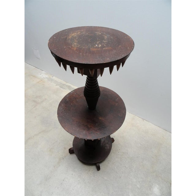 "Gothic Vintage ""Tramp Art"" Occasional Table For Sale - Image 3 of 9"