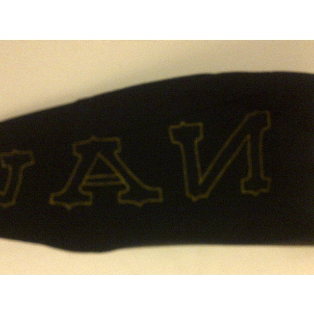 Felt Vintage United States Naval Academy Pennant Circa 1940 For Sale - Image 7 of 7