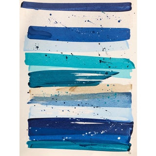 Katy Garry Blue Rainbow Contemporary Painting For Sale