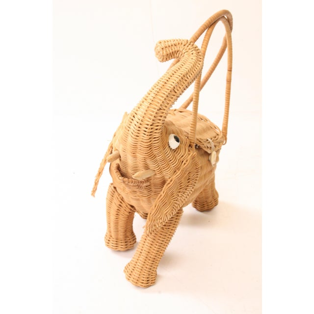 Vintage Wicker Figural Elephant Purse - Image 5 of 11