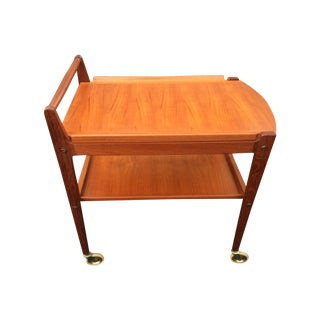 Mid-Century Modern Teak Serving Cart