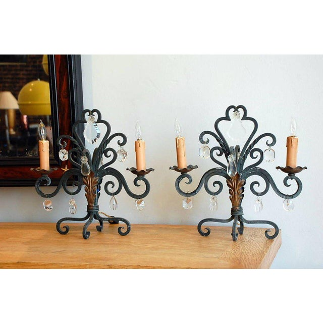 Art Deco 1940s Chic French Candelabra Lights - a Pair For Sale - Image 3 of 5