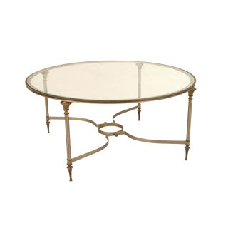 French 1940s Round Metal Coffee Table For Sale