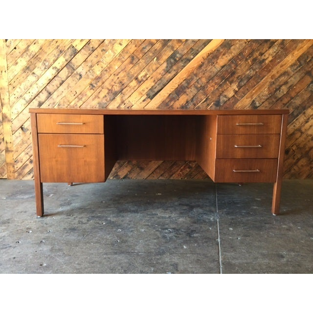 Mid-Century Executive Reception Desk - Image 2 of 6