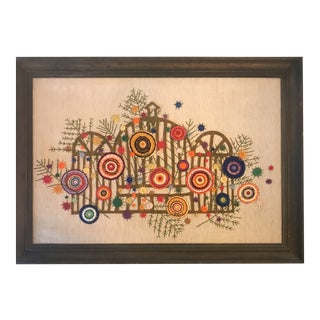 Jane Knight Framed Abstract Tapestry