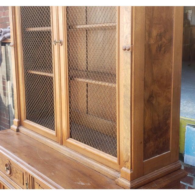 Antique 19th Century Palatial Size Burl Walnut Eastlake Victorian Butler's Secretary Desk C1860 For Sale - Image 10 of 13