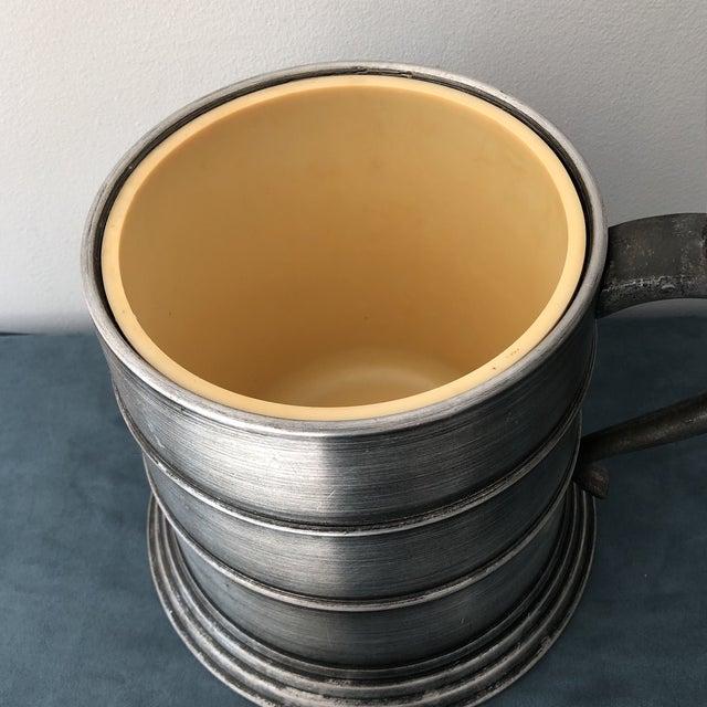 Vintage Italian Pewter Beer Mug Ice Bucket For Sale - Image 4 of 7