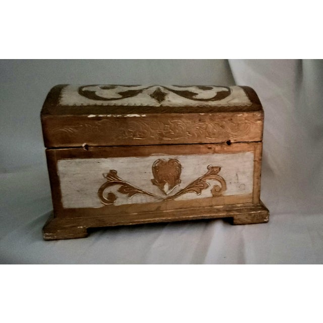 1960s Italian Florentine Treasure Chest Trinket Box For Sale - Image 5 of 5