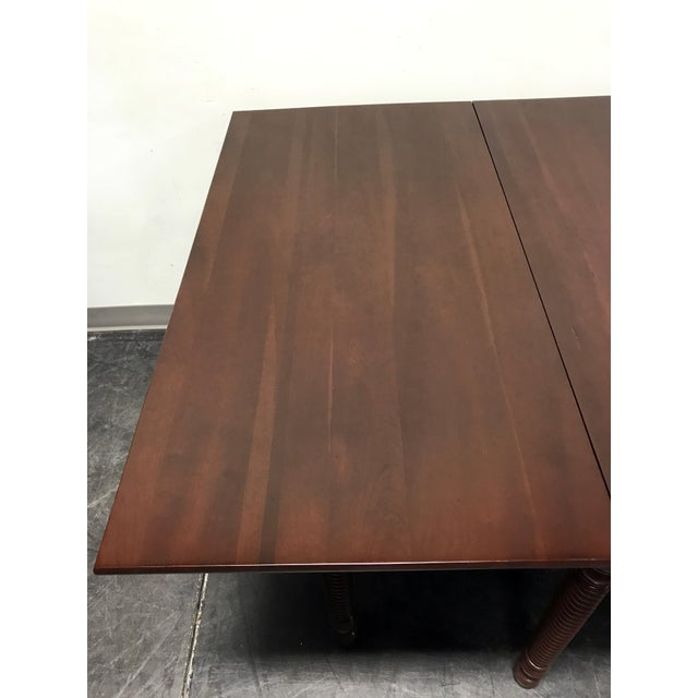 Wood Willett Cherrywood Gate Leg Drop Leaf Dining Table For Sale - Image 7 of 11