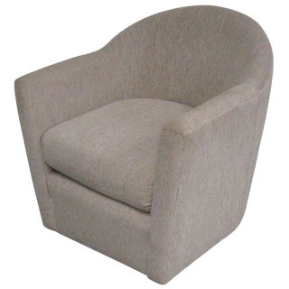 1970s Vintage Harvey Probber Style Swivel Club Chair For Sale