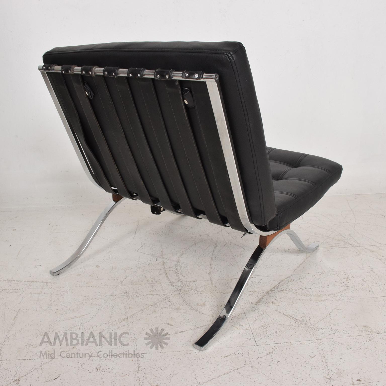 Mid Century Modern Selig Barcelona Chair Chrome U0026 Naugahyde   Image 9 ...