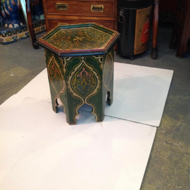 Boho Chic Petite Moroccan Tabouret For Sale - Image 3 of 12
