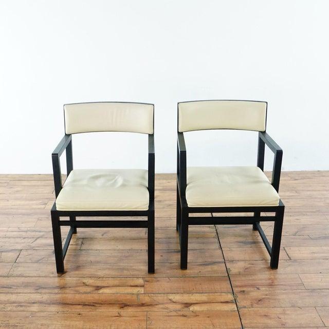 Two B&B Italia Maxalto Simplice Side Chairs with leather upholstery. Brand is B&B Italia. Model is Maxalto Simplice....