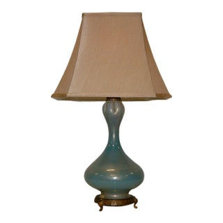 Seguso Murano Glass Table Lamp For Sale