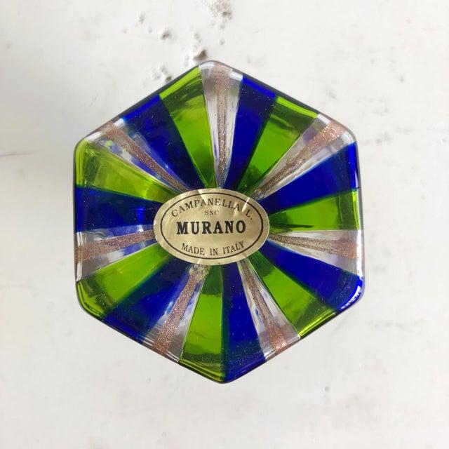 1980s L Campanella Murano Art Glass Vase For Sale - Image 5 of 6