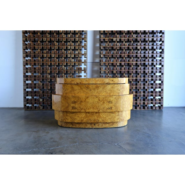 1980s Mid-Century Modern Sculptural Burl Wood Chest For Sale - Image 11 of 11