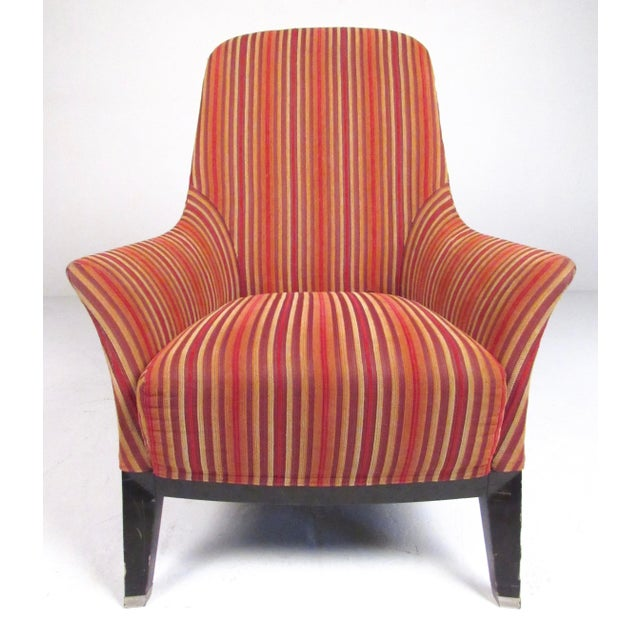 """This stylish pair of Italian modern lounge chairs feature Massimo Scolari design for manufacturer """"Giorgetti"""". The..."""