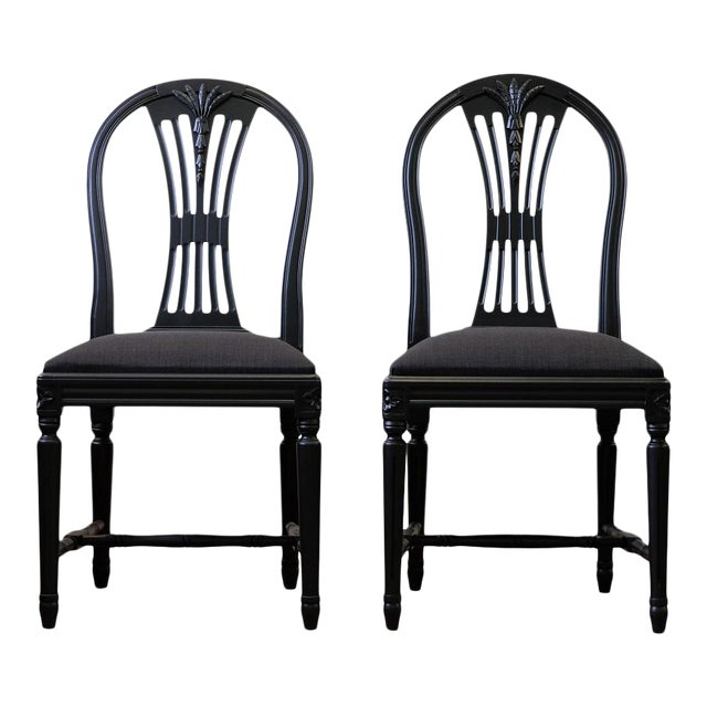Swedish Axet Dining Chairs - a Pair For Sale