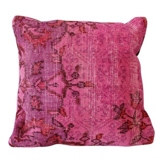Pink Overdyed Wool Kilim Pillow 20 x 20