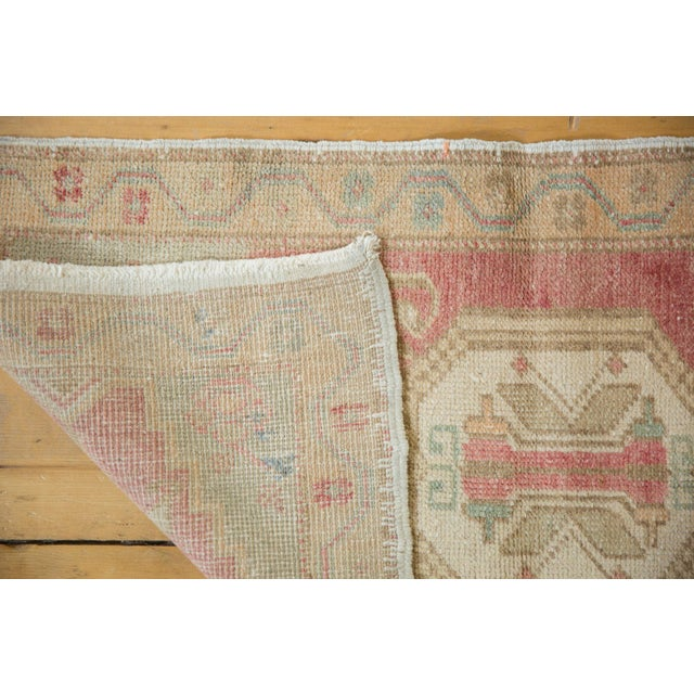 "Vintage Distressed Oushak Rug Mat - 1'6"" X 3' For Sale In New York - Image 6 of 7"