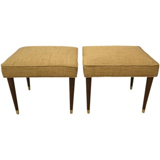 Pair of Mid-Century Upholstered Benches