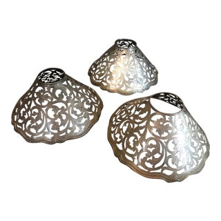 Shreve Sterling Lamp Shades Set of Three For Sale