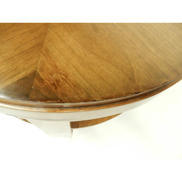 Art Deco Round Walnut Side Table For Sale In New Orleans - Image 6 of 10