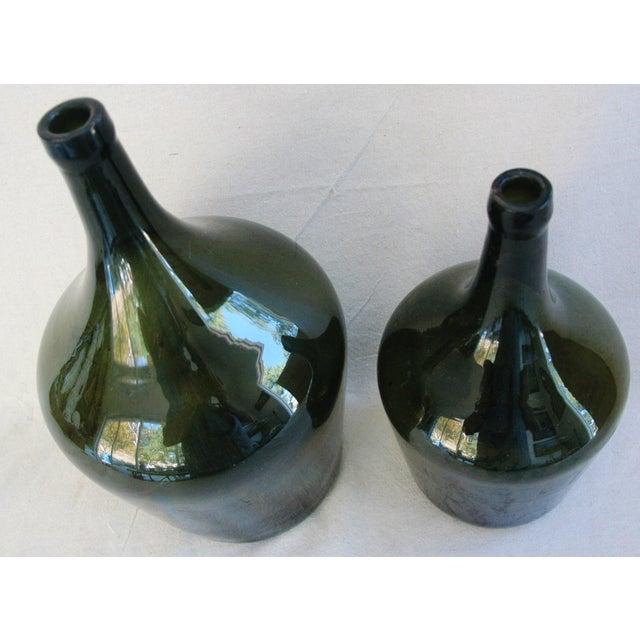 French Handblown Demijohn Bottles - Pair - Image 5 of 5
