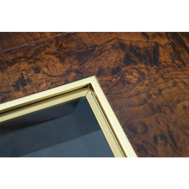 Vintage Burl Wood and Brass Dining Table by Century Furniture For Sale - Image 12 of 13