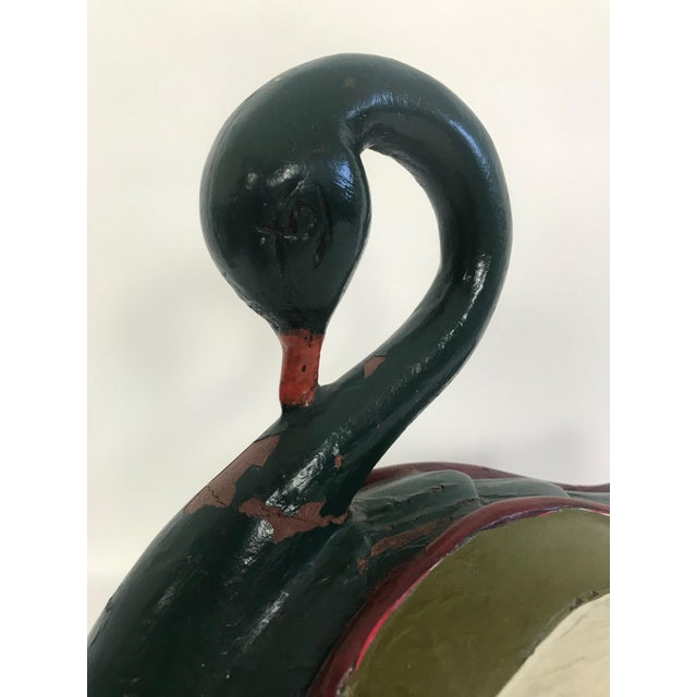 Folk Art Hand Painted and Hand Carved Swan Figure For Sale In Seattle - Image 6 of 11
