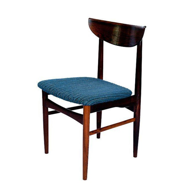 Mid-Century Modern Set Of 4 Rosewood Dining Chairs For Sale - Image 3 of 9