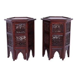 Moroccan Hexagon Stands or Tables - A Pair For Sale