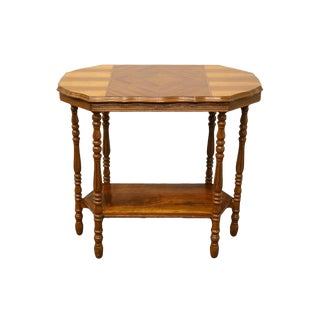 "1920's Italian 32"" Bookmatched Accent Entryway Table For Sale"