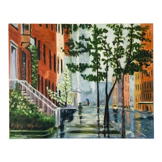 Modern New York City Cityscape Painting on Canvas by Boyd Norton For Sale