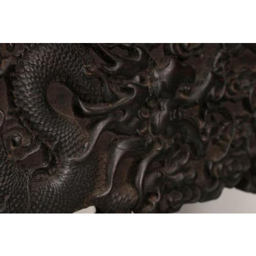 Antique Chinese Handmade Zitan Dragon Table For Sale - Image 11 of 11